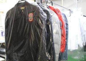 かさばる冬物衣類